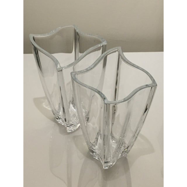 Villeroy Boch New Wave Square Glass Vases A Pair Chairish