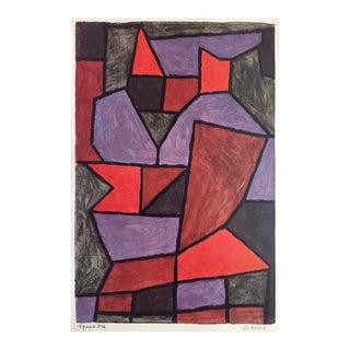 "Paul Klee Rare Vintage 1960 1st Edition Modernist Lithograph Print "" Double "" 1940 For Sale"