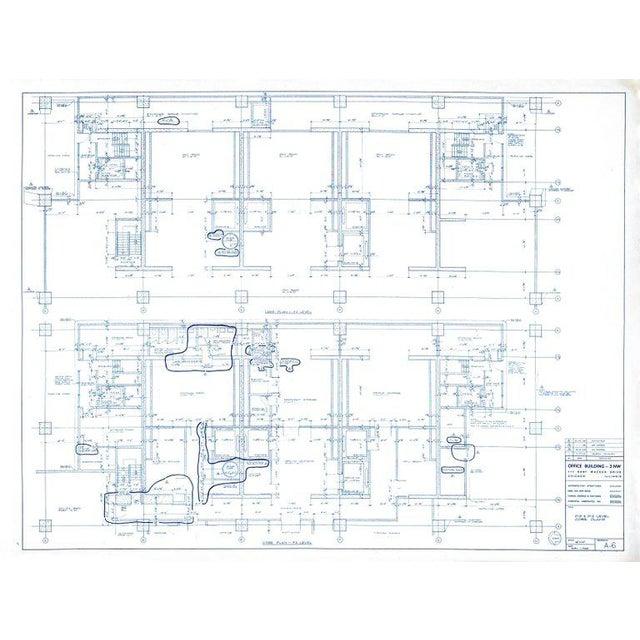 Bauhaus Mies Van Der Rohe Blueprint, One Illinois Center 111 E. Wacker Chicago, 1968 For Sale - Image 3 of 13