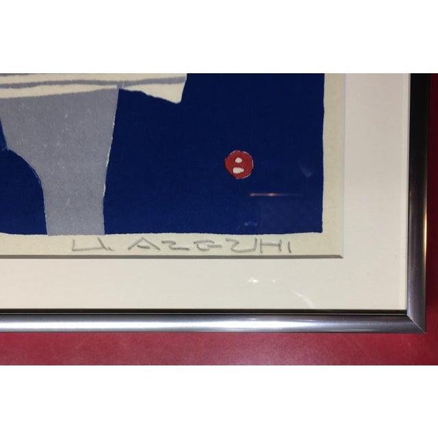 1960s 1960s Vintage Circa Umetaro Azechi Pencil Signed Woodblock Print For Sale - Image 5 of 7