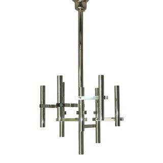 1960s Chrome Tubular Pendant by Sciolari For Sale