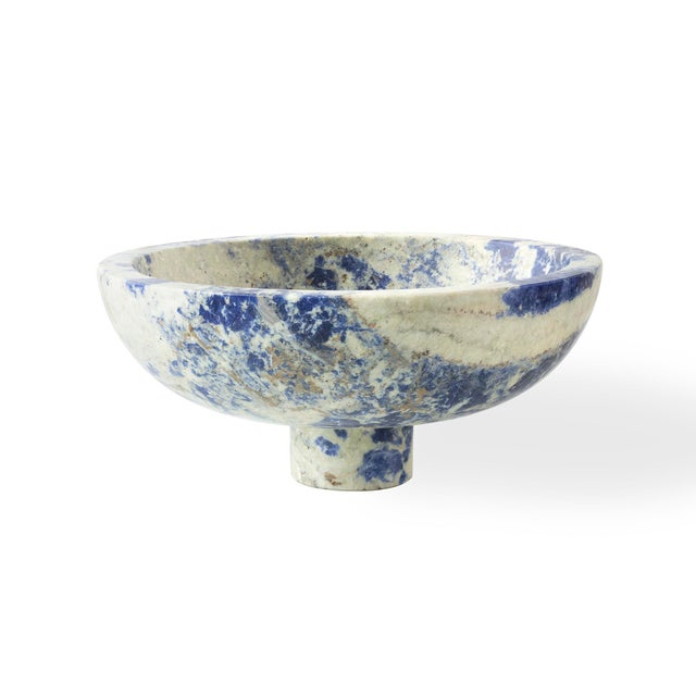 Modern Handcrafted Fruit Bowl in Italian Marble by Karen Chekerdjian For Sale - Image 6 of 10