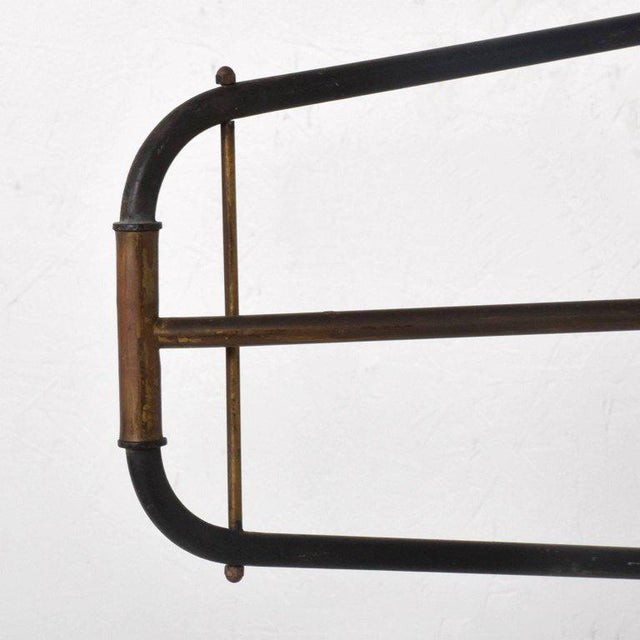 Gold Mid-Century Modern French Industrial Wall Sconce After Jean Prouve For Sale - Image 8 of 10
