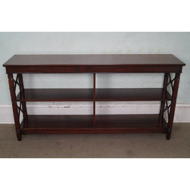Brown Custom Quality Mahogany Console Etagere For Sale - Image 8 of 10