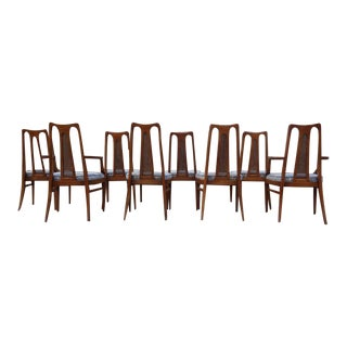 1960s Drexel Atomic Modern Dining Chairs - Set of 8