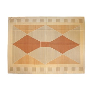 """Vintage Contemporary Kilim Carpet - 10'1"""" X 13'8"""" For Sale"""