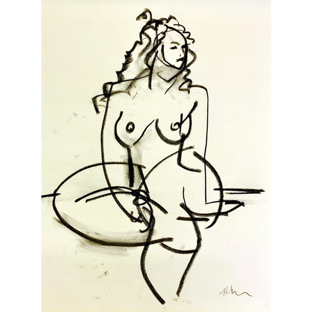 Heidi Lanino Cody Sketch VI 18x24 For Sale - Image 4 of 4