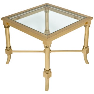 Maison Jansen Style Gilt Brass Side Table For Sale