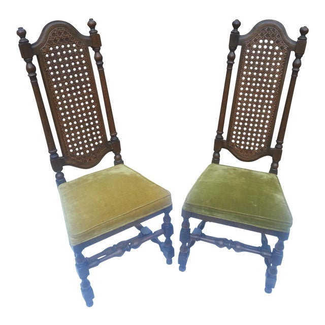 1929 Century Furniture Company Cane Chairs - A Pair For Sale