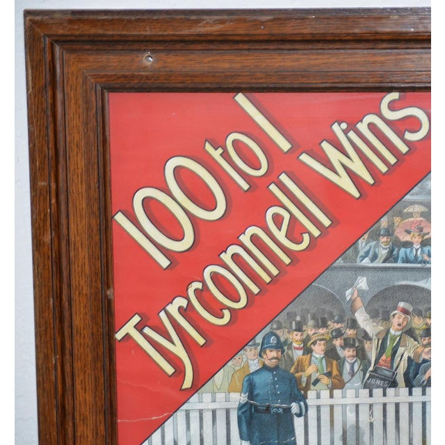 Traditional 1001 to 1 Tyrconnell Wins! Victorian Whiskey Poster C.1900 For Sale - Image 3 of 12