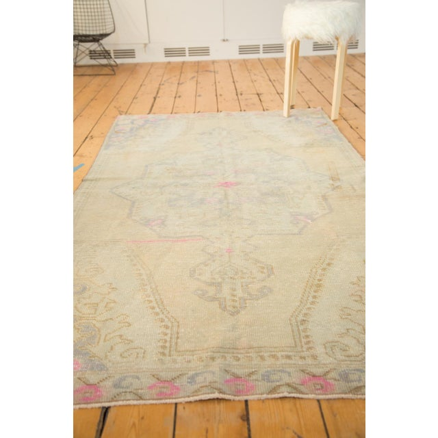 Vintage Distressed Oushak Rug - 4' x 7' - Image 10 of 11
