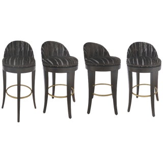 Tibet Swivel Bar Stools by Kravet Furniture, Set of 4