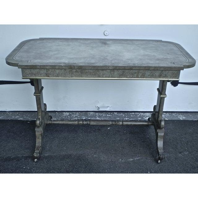 Refinished 1940s Vintage Desk Table - Image 3 of 4