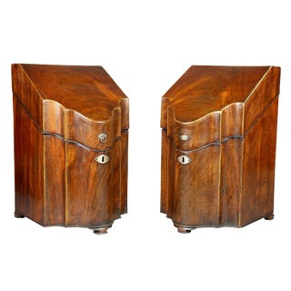 Pair of George III Mahogany Cutlery Boxes
