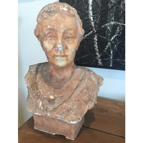 French Terra Cotta Bust, Early 20th Century For Sale - Image 3 of 10