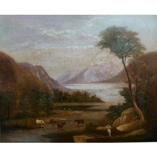 Thomas Doughty -Pastoral Landscape -Oil Panting C1820s For Sale