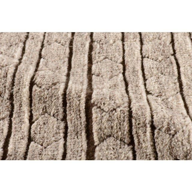 """Contemporary Stark Studio Rugs Cato Rug in Grey/Brown, 9'0"""" x 12'0"""" For Sale - Image 3 of 5"""