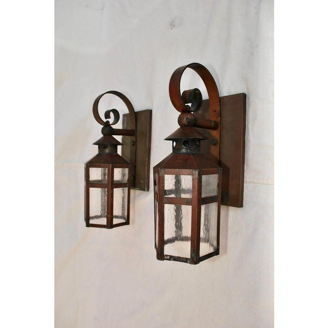 1930s Copper Outdoor Sconces - a Pair For Sale - Image 4 of 5