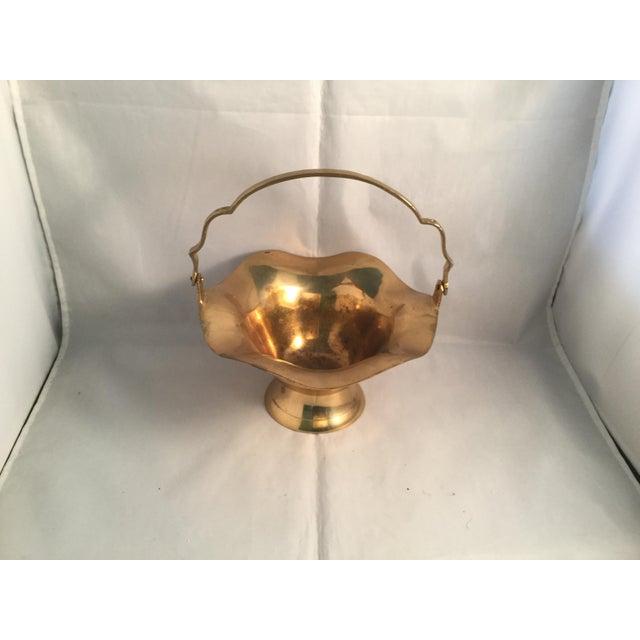 Solid brass wedding basket.