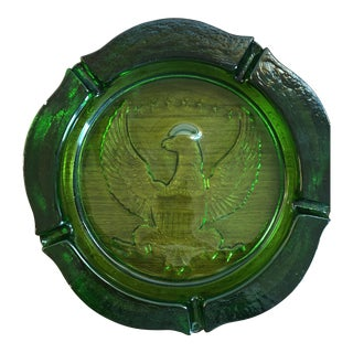 Indiana for Tiara Green Eagle Glass Ashtray