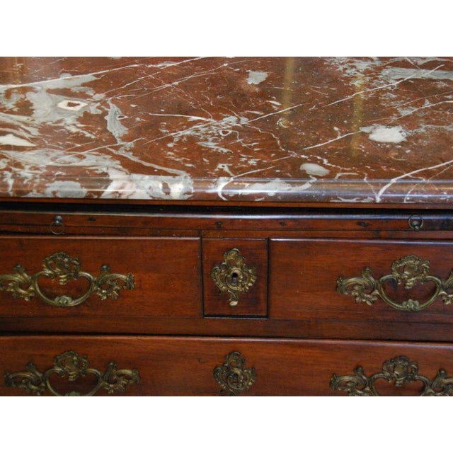 Brown 18th Century French Walnut Marble Top Commode For Sale - Image 8 of 8