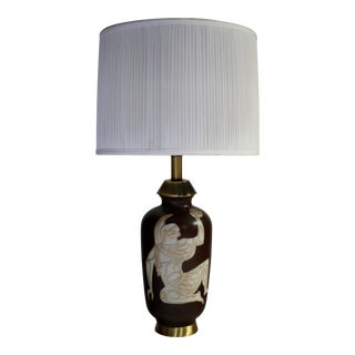 Mid-Century Ancient Roman Gladiator Motif Table Lamp For Sale