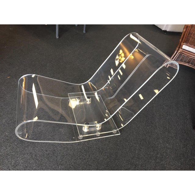 Modern Modern Lcp Lucite Chaise Lounge Chair For Sale - Image 3 of 7