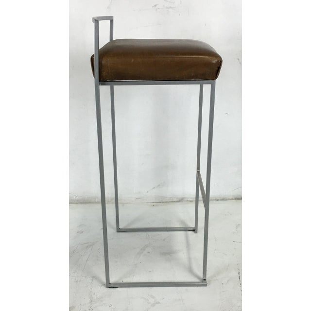 Modern Set of Four Minimalist Modern Bar Stools by Enzo Berti for LaPalma, Italy For Sale - Image 3 of 5