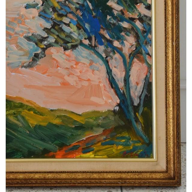 "Abstract Original Juan ""Pepe"" Guzman, Ojai California Plein Air Landscape Painting For Sale - Image 3 of 9"
