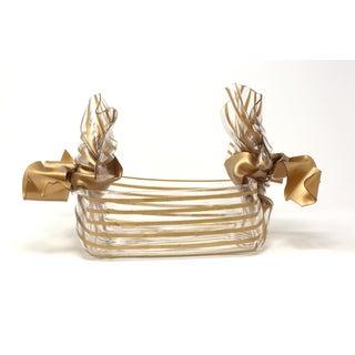 Vintage C. T. Designs Gold Ribbon Box Preview