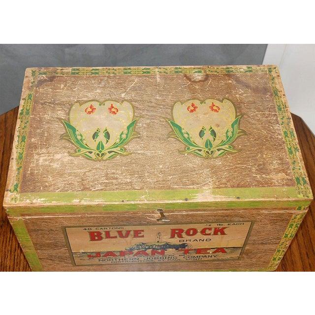 Tan Blue Rock Japan Tea Box For Sale - Image 8 of 8