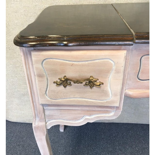 Vintage 1940's Beach Aged Vanity For Sale - Image 4 of 9