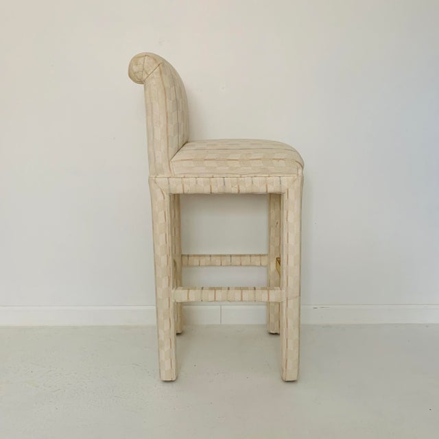 1980s 1980s Vintage Parsons Bar Stools- Set of 6 For Sale - Image 5 of 9
