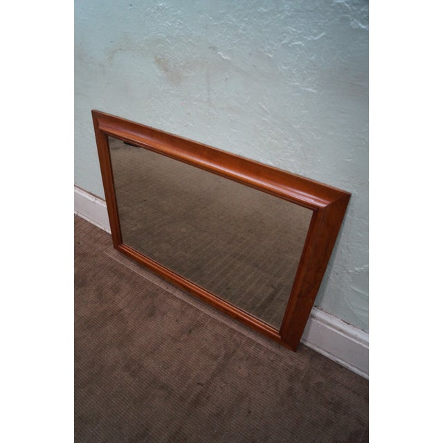 Country Stickley Solid Cherry Frame Rectangular Mirror For Sale - Image 3 of 10