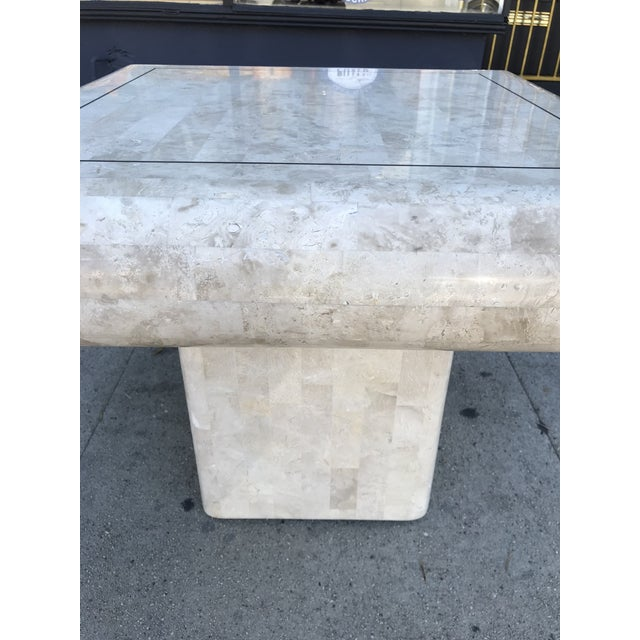 Art Deco 1980s Art Deco Maitland-Smith Tessellated Stone Side Table For Sale - Image 3 of 6