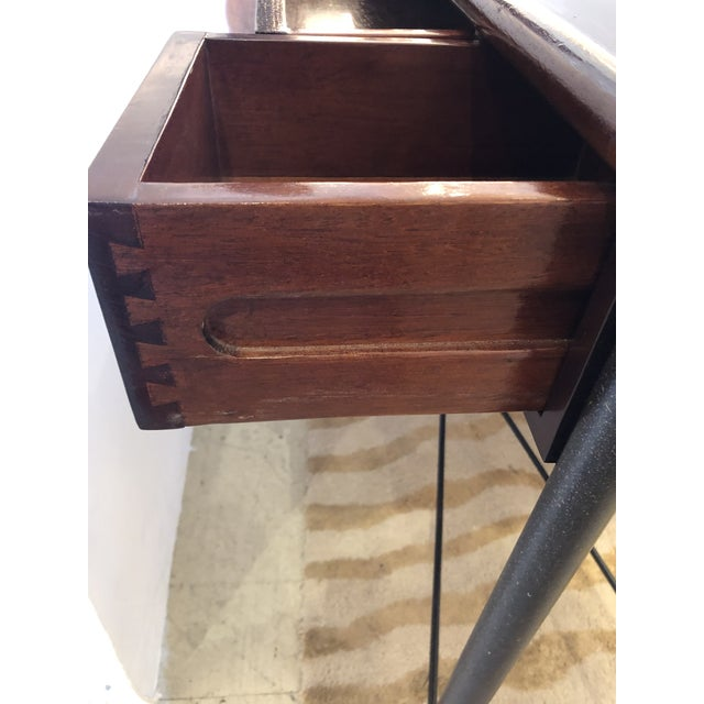 Brown Mahogany Console Sofa Table by Grange For Sale - Image 8 of 13