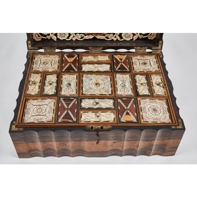 Black 1882 King Ebony Inlaid Presentation Box For Sale - Image 8 of 11