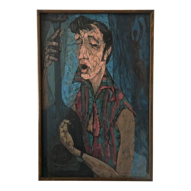 "Richard Campbell Mid-Century ""Minstrel"" Original Painting - Image 1 of 6"