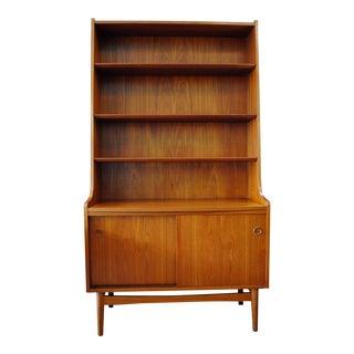 Danish Modern Teak Bookcase Cabinet by Johannes Sorth