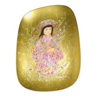 Rosenthal Edna Hibel Prima Arte Oval Plate For Sale
