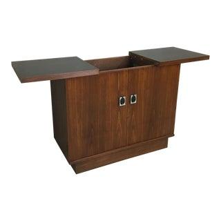 Mid Century Walnut Bar Cabinet
