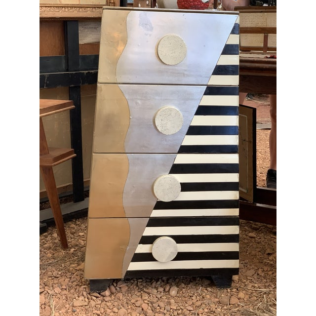 Memphis Style Chest of Drawers Circa 1990 For Sale - Image 11 of 11