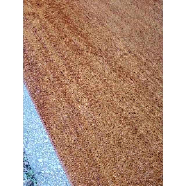 1950s Midcentury Danish Modern Arne Vodder Danish Teak Drop Leaf Desk For Sale - Image 10 of 13