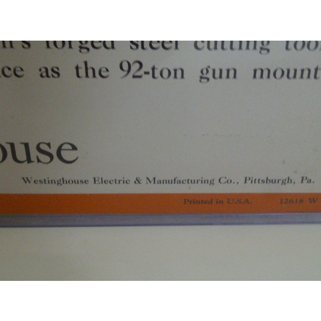 Vintage Westinghouse Advertising Poster, No. 48 For Sale - Image 7 of 8