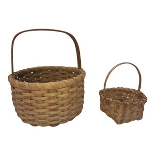 1960s Vintage American Basket - a Pair For Sale