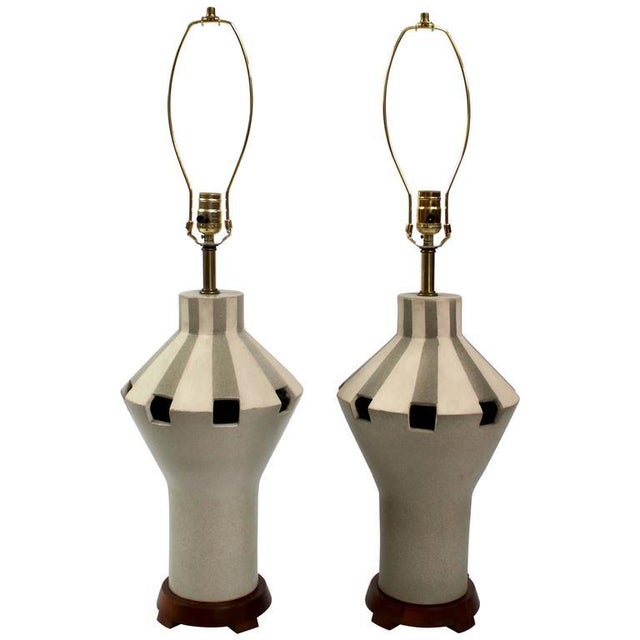 1960s Bitossi Ceramic Table Lamps - A Pair For Sale - Image 11 of 11