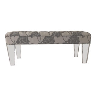 Lucite Deco Tufted Bench