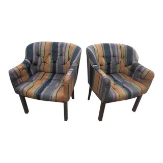 Vintage Mid Century Modern Edward Wormley for Dunbar Lounge Chairs- A Pair For Sale