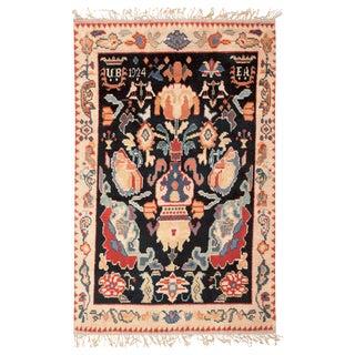 Vintage Scandinavian Pile Rug - 5′3″ × 8′ For Sale