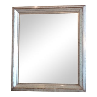 Antique Silver Leaf Wall Mirror For Sale